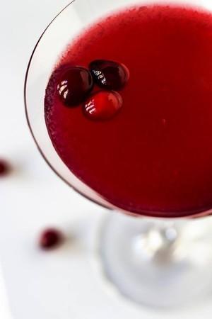 Dainty cranberry gimlet